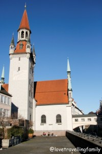 Peterskirche tower Munich, Germany, Love travelling family