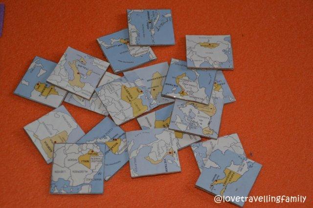 Cardboard maps