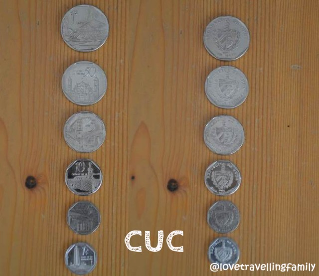 CUC coins, Cuban currency