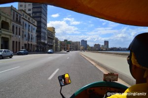 Coco taxi, the Malecon, Havana