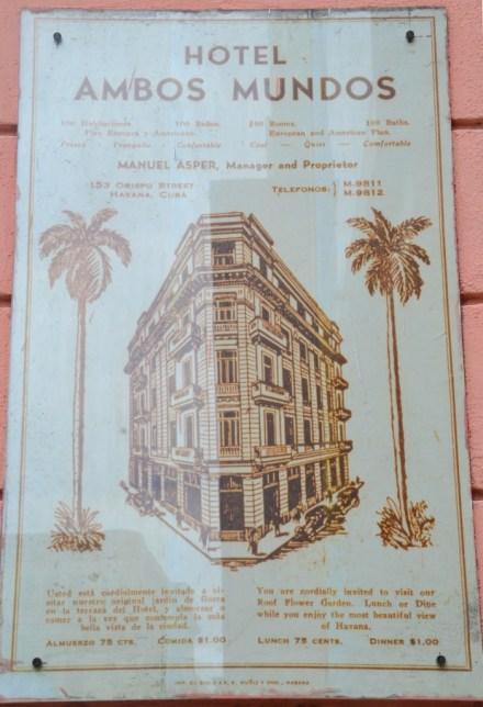 Hotel Ambos Mundos, Havana, Cuba