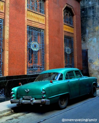 Old Cuban car in Havana Vieja