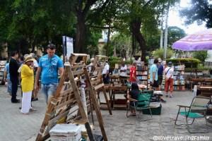 Secondhand book market, Plaza de Armas