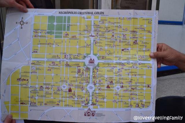 The map of Necrópolis de Cristóbal Colón