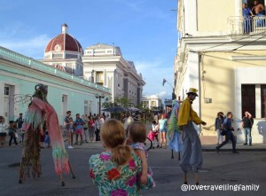 Love travelling family @ International Theater festival, Cienfuegos, Cuba