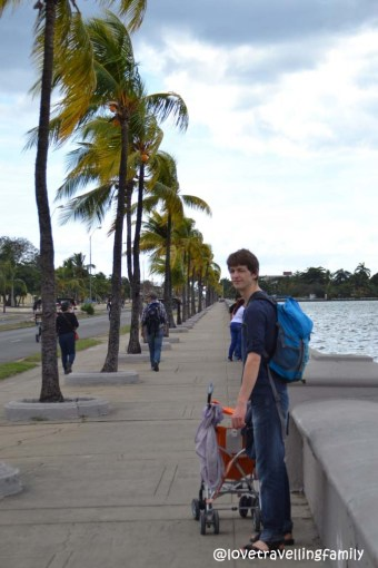 Love travelling family, the Malecón in Cienfuegos, Cuba