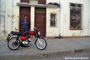 A man with a motorcycle, Cienfuegos, Cuba