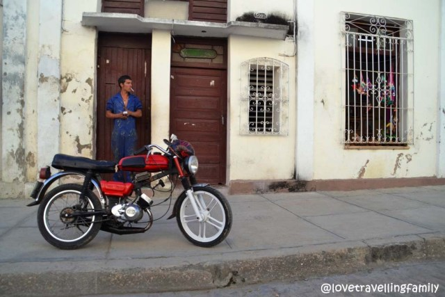 A man with a motorcycle, Cienfuegos, Cuba