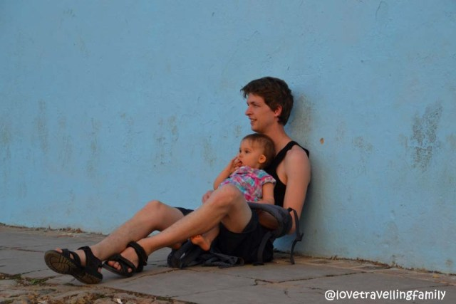 Love travelling family @ Plaza Mayor, Trinidad, Cuba