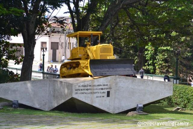 Bulldozer at Monumento a la Toma del Tren Blindado, Santa Clara, Cuba