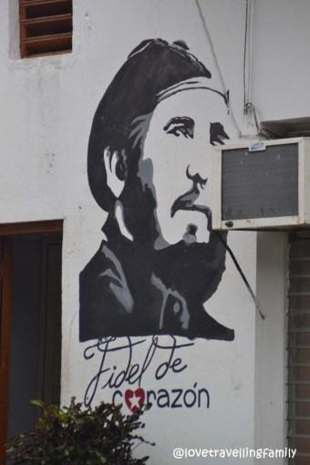 Fidel de corazon mural in Santa Clara, Cuba