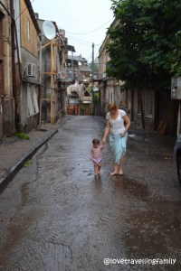 Rain in Old Tbilisi, Love travelling family