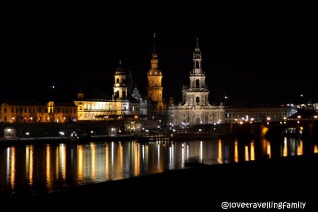 Dresden panorama by night