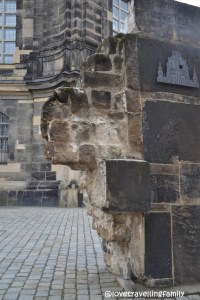 Old piece, Frauenkirche, Old Town Dresden, Germany