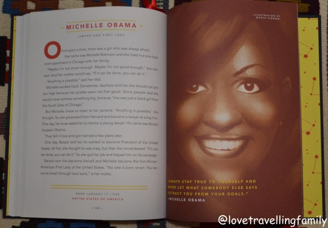 Good Night Stories for Rebel Girls, Michelle Obama