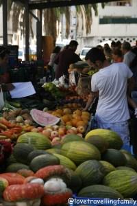 Market in Inca, Mallorca, Spain