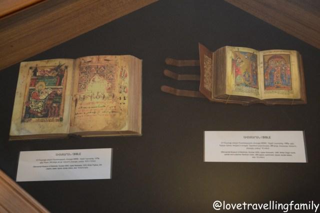 Manuscripts, Momik's museum in Noravank, Armenia