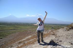 With Mount Ararat, Monastery Khor Virap, Armenia