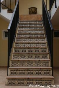 Stairs Spanish style, Cala Rajada, Mallorca, Spain