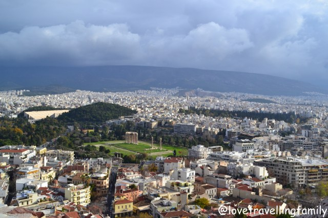 Panorama view of Athens from Acropolis, Athens, Greece