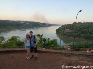 Love travelling family Puerto Iguazú, Argentina and the banks of Brazil and Paraguay
