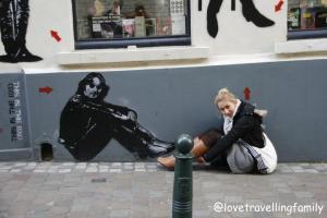 Love travelling family and John Lennon in Brussels, Belgium