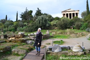The Temple of Hephaestus, Ancient Agora, Athens, Greece Love travelling family