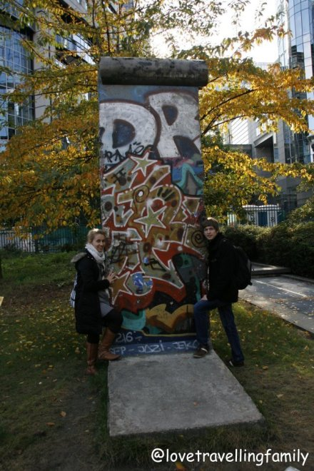 The piece of the Berlin Wall, Brussels, Belgium