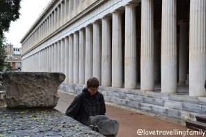 The reconstructed Stoa of Attalos, Ancient Agora, Athens, Greece