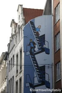 the Brussel's Comic Book Route