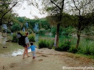 Love travelling family, Kravica waterfalls, Bosnia and Hercegovina