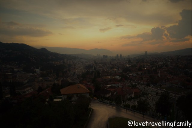 Sunset in Sarajevo, Bosnia and Herzegovina