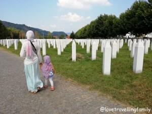 Srebrenica, Potocari, Bosnia and Herzegovina, 2018 Love travelling family