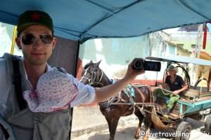 Horse carriage ride from Trinidad to Zipline Canopy adventure in Valle de los Ingenios