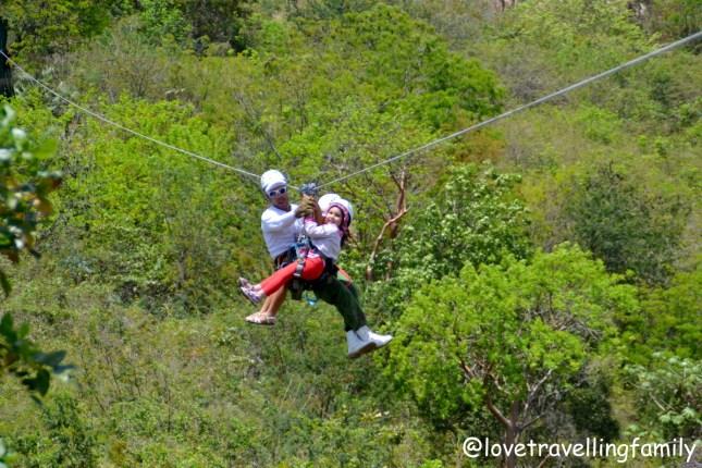 Zipline Canopy adventure in Valle de los Ingenios, Trinidad. Active Cuba with kids Love travelling family