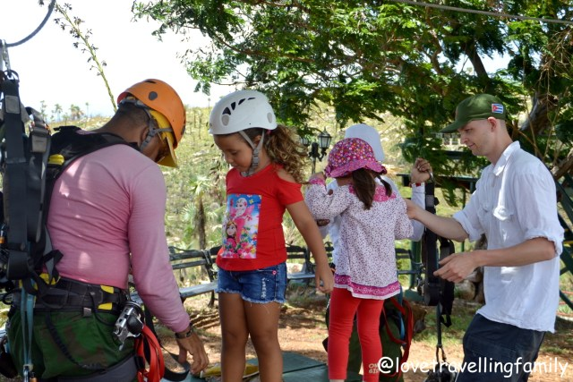 Zipline Canopy adventure in Valle de los Ingenios, Trinidad. Active Cuba with kids Love travelling family