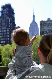 Empire State Building seen from Bryant Park, Love travelling family