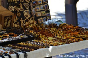 Selling amber, Vilnius, Lithuania with kids Love travelling family