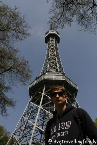 The Petřín Lookout Tower, Prague Love travelling family