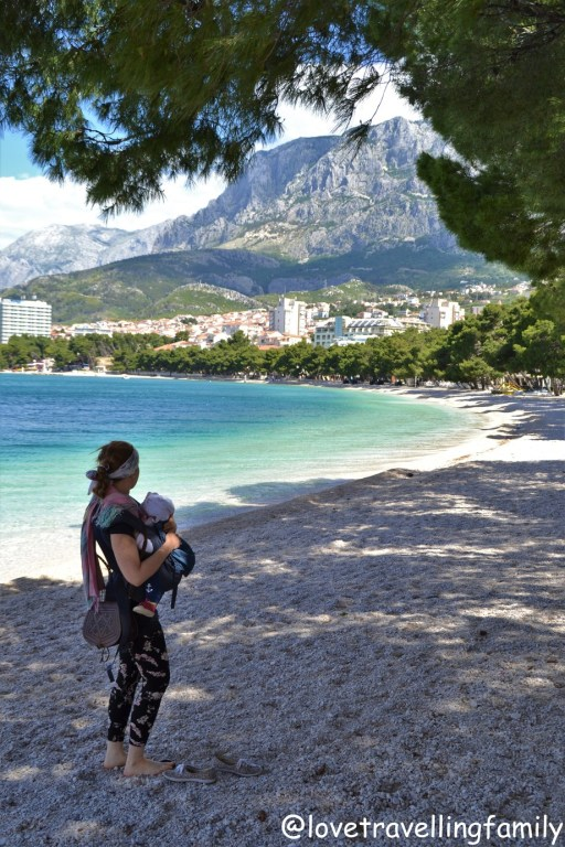 Beach Makarska, Makarska Riviera. Croatia. Family travel guide