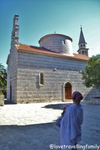 Church of the Holy Trinity, Budva, Montenegro with kids