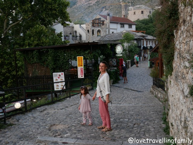 Evening walk Love travelling family Mostar, Bosnia and Herzegovina