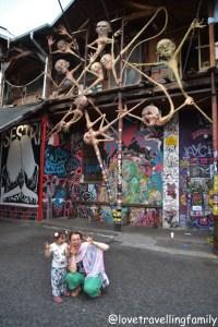 Love travelling family Metelkova Art Center, Slovenia. Ljubljana with kids