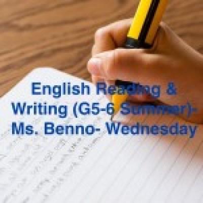 Group logo of English writing & reading (G5-6 Summer)-Ms Benno-Wednesday