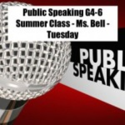 Group logo of Public Speaking(G4-6) Summer Class - Ms.Bell - Tuesday