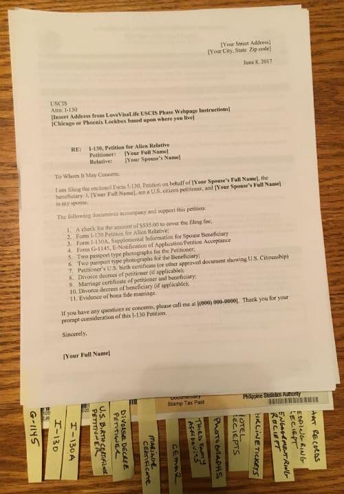 ir-1 cr-1 spouse visa application assembling tips- i-130  petition for alien spouse