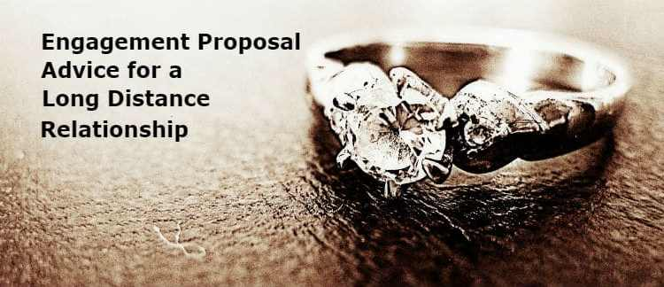 """An engagement ring with the title engagement proposal advice for a long distance relationship""""."""