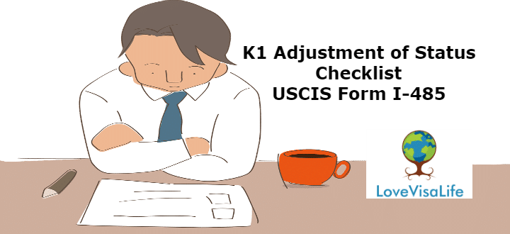 K1 Adjustment Of Status Checklist USCIS Form I 485