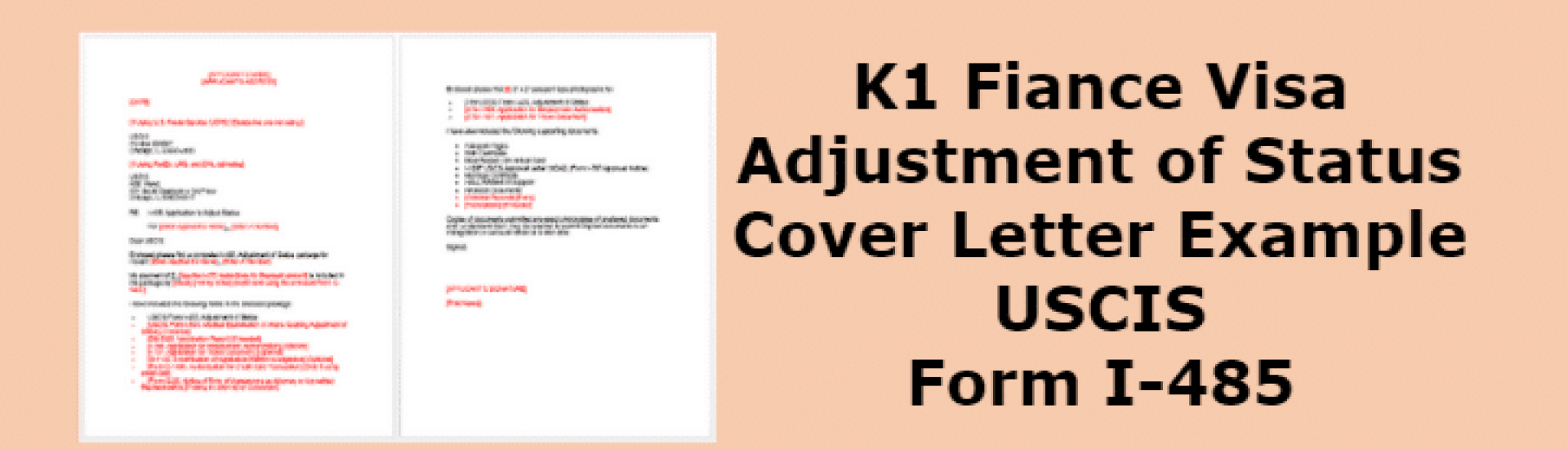 K1 Adjustment Of Status Cover Letter Example USCIS Form I 485