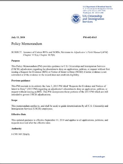 USCIS Discretionary Denial Policy Change   LoveVisaLife